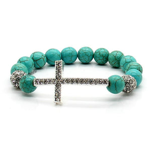 Blue Crystal Beads Bracelet - Be Living