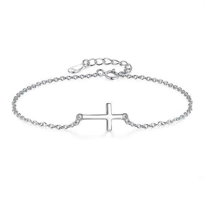 Thin Link Chain Cross Bracelet - Be Living
