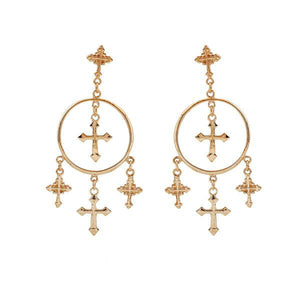 Vintage Christian Drop Earrings - Be Living