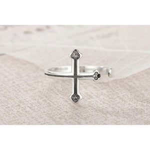 925 Sterling Silver Vintage Cross Ring - Be Living