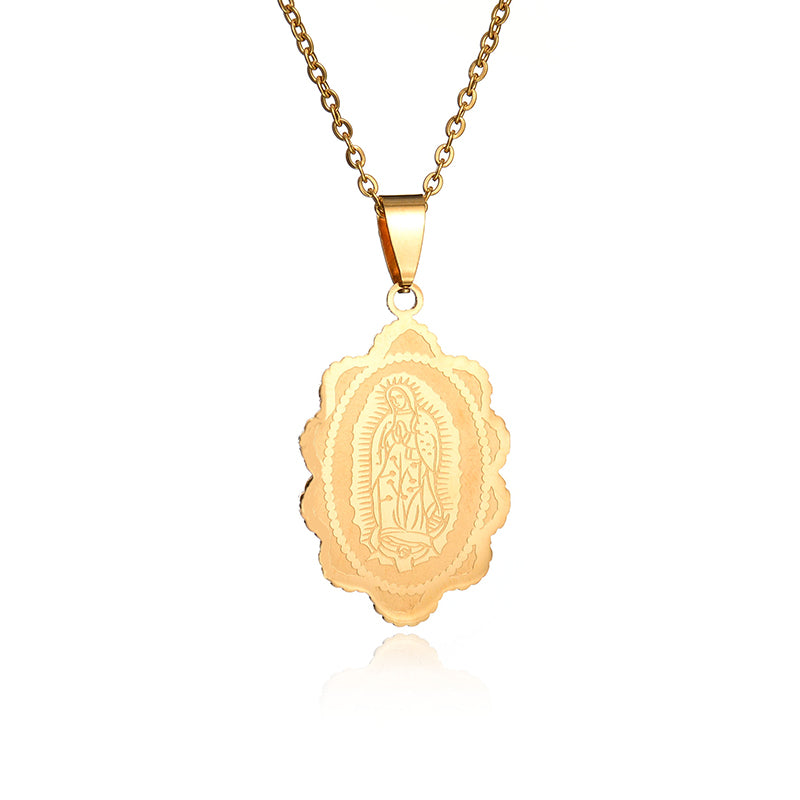 Virgin mary pendant necklace the ichthus virgin mary pendant necklace be living aloadofball Choice Image