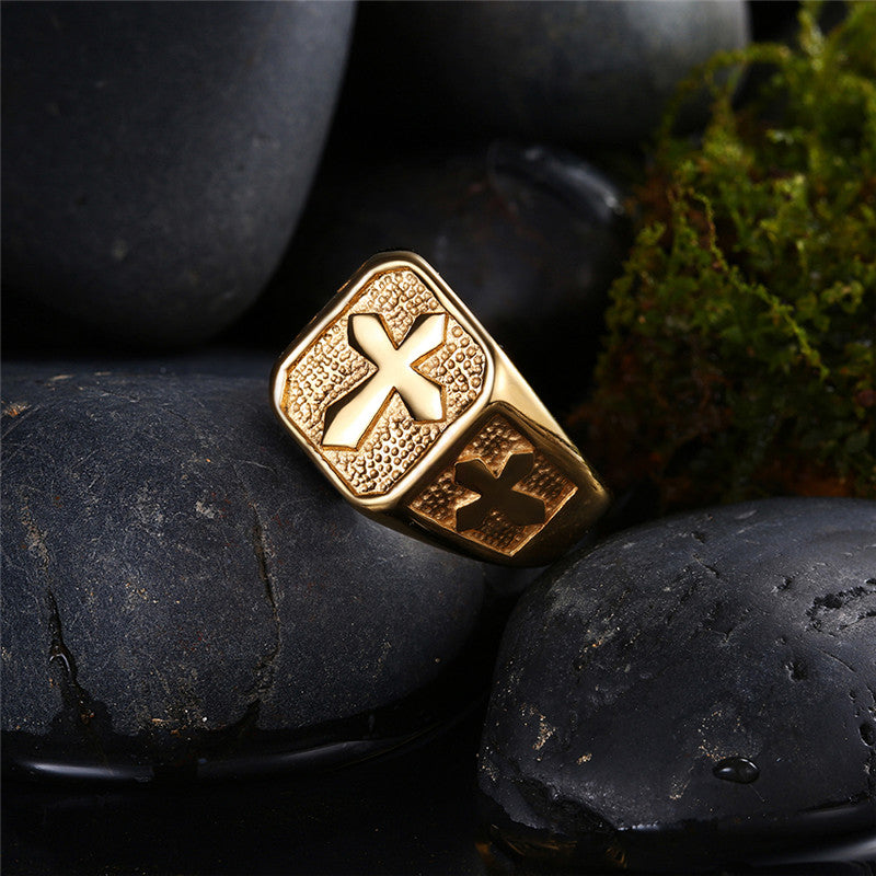 Golden Cross Ring - Be Living
