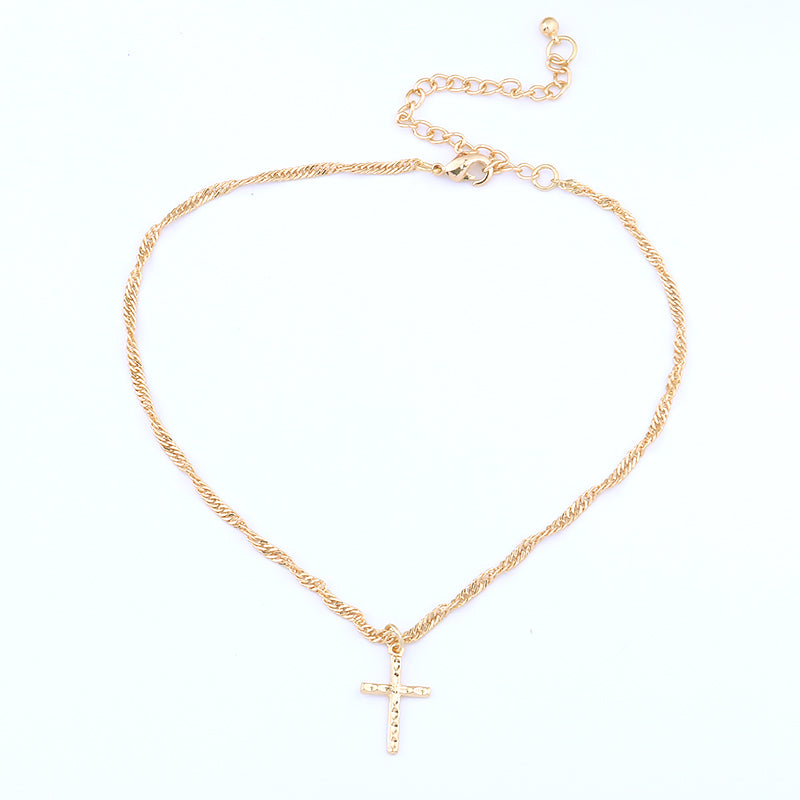 Golden Heart & Cross Necklace - Be Living