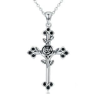Rose Cross Necklace - Be Living