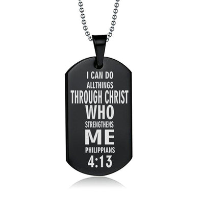 Philippians 4:13 Tag Necklace - Be Living