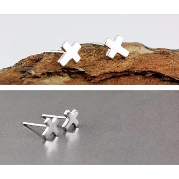 Cross Stud Earrings - Be Living