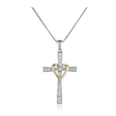 Heart Charm Cross Necklace - Be Living