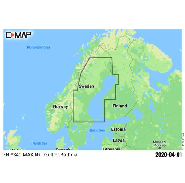 C-MAP MAX-N+ Local 340 - Norrlandskusten med inland