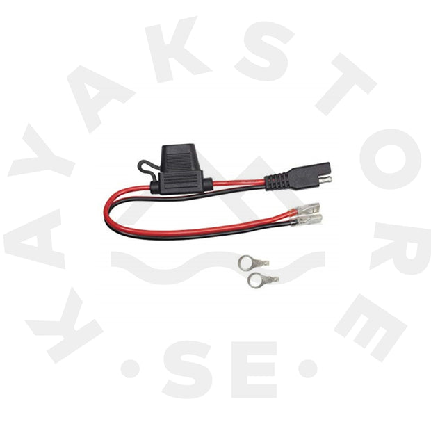 "YAK-POWER Battery Terminal Connector with Pig Tail 12"" (SAE to Spade)"