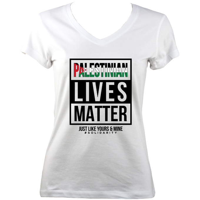 'Palestinian Lives Matter' Women V-Neck T-shirt