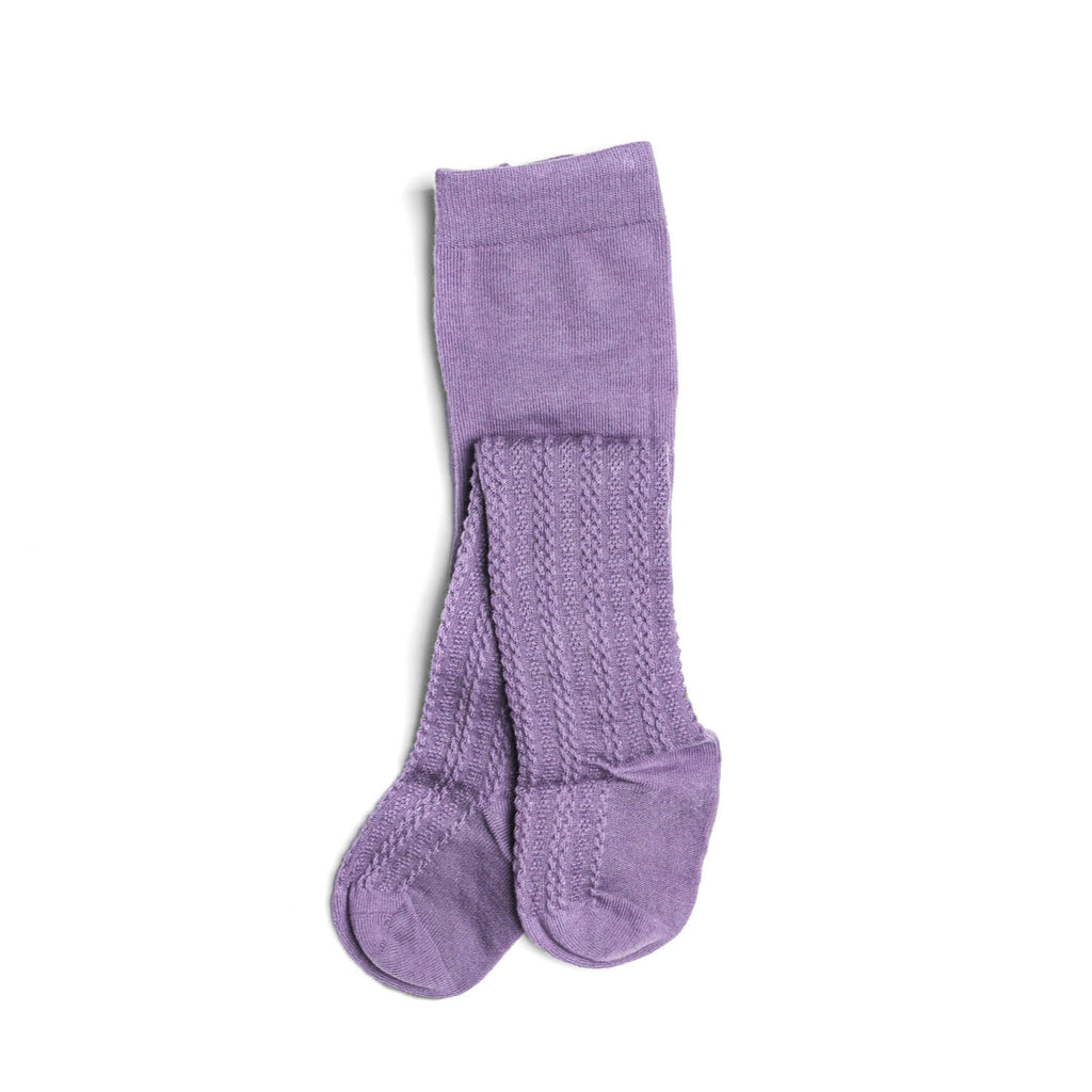 Cable Knit Tights Lavender