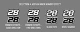 Printed Race Number Decals - Build Your Own Design
