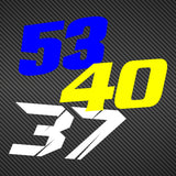 Contour Cut Race Number Decals - From Preset Template
