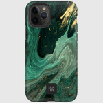 Splash Green Marble iPhone Cover