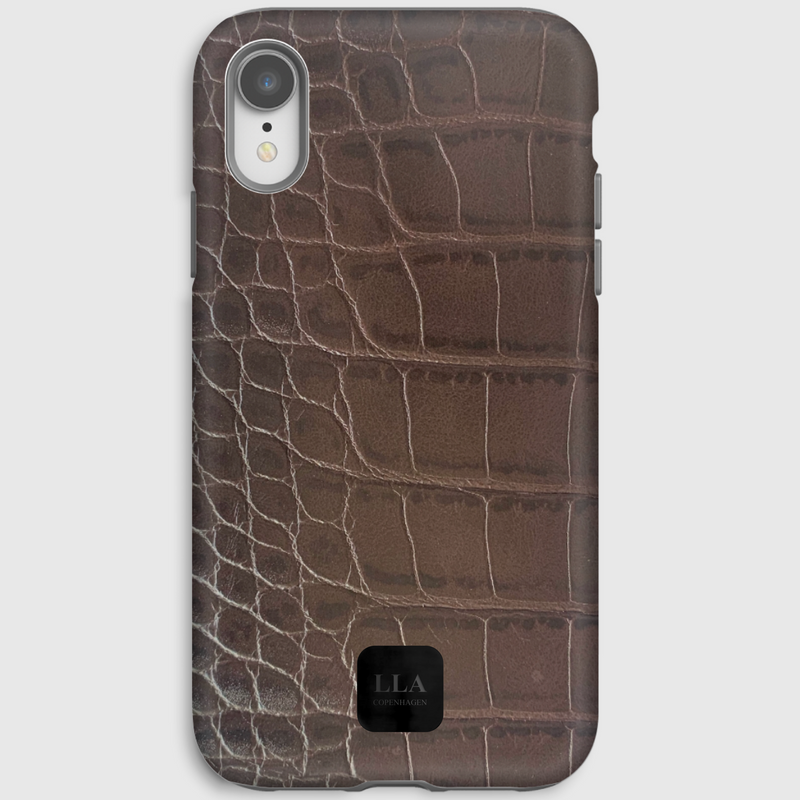 Hamilton Brown Croc iPhone Cover