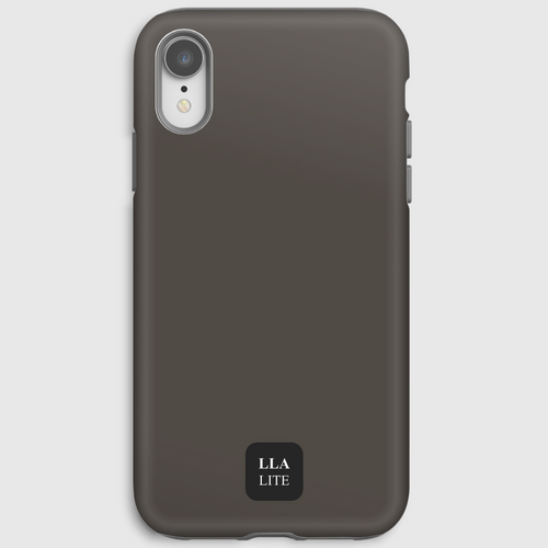 Lunokhod Brown Plain iPhone Cover