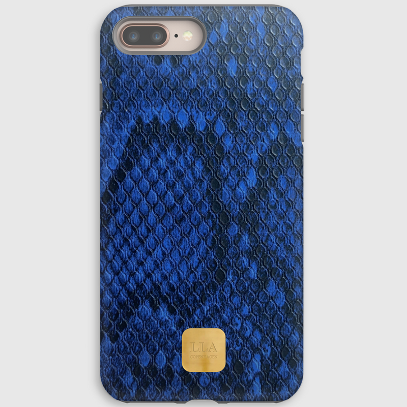 Mangasarians Blue Python iPhone Cover