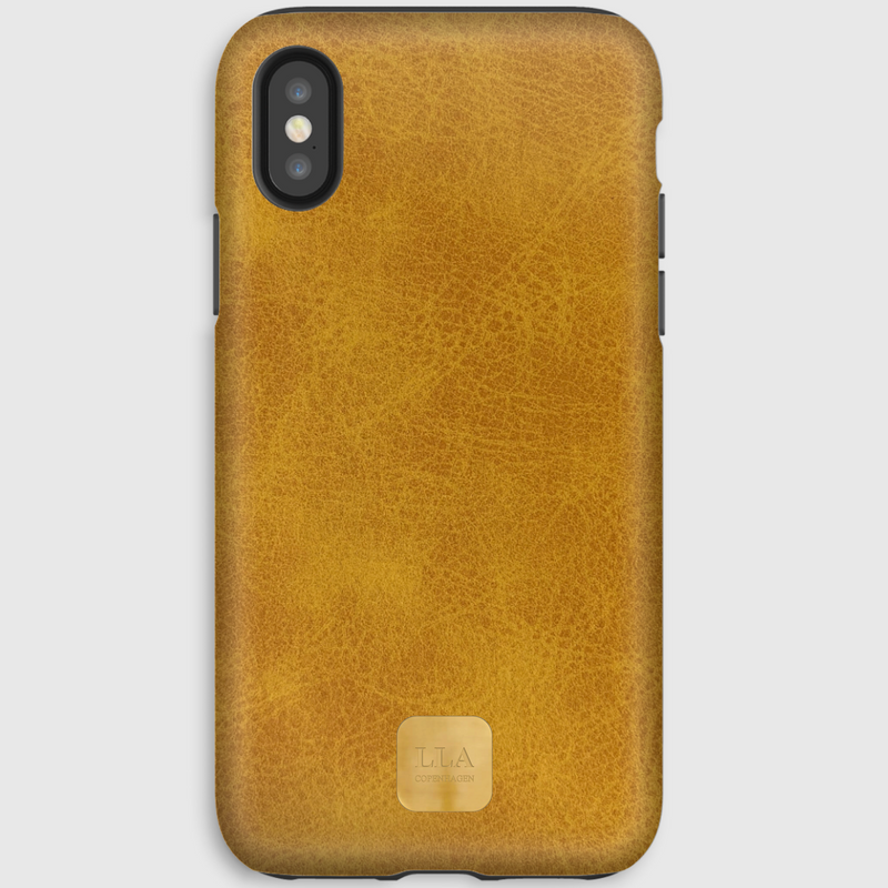 Patina Yellow Grain iPhone Cover
