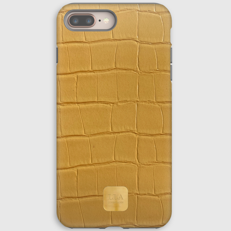 Tau Yellow Croc iPhone Cover