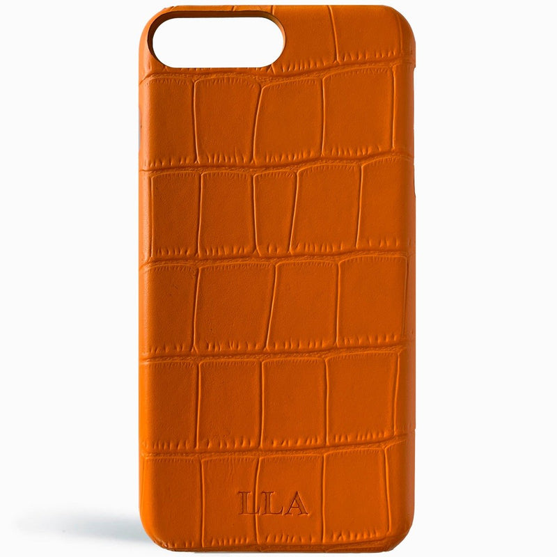 Phantom Orange Croc iPhone Cover
