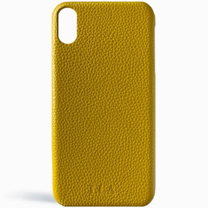 Yellow Top Grain iPhone Case