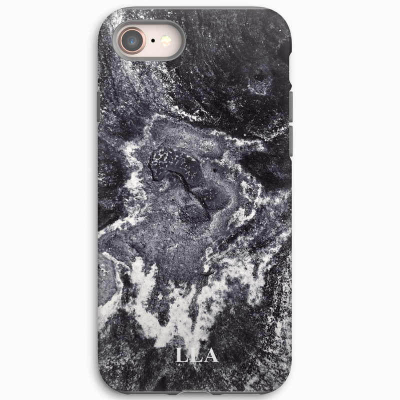Black & White Marble TPU iPhone Case