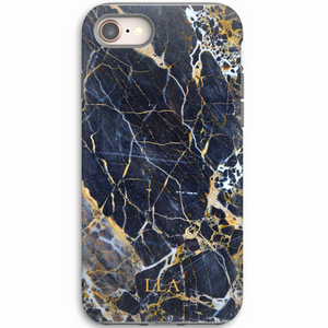 Dark Blue Marble TPU iPhone Case