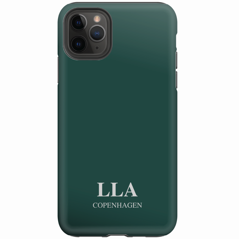 Green Plain TPU iPhone Case