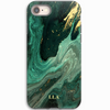 Green & Gold Marble TPU iPhone Case