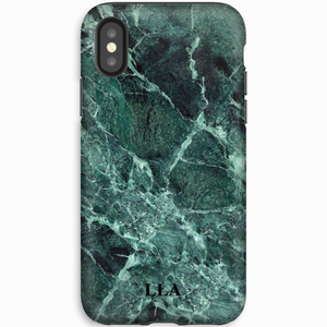 Dark Green & Black Marble TPU iPhone Case
