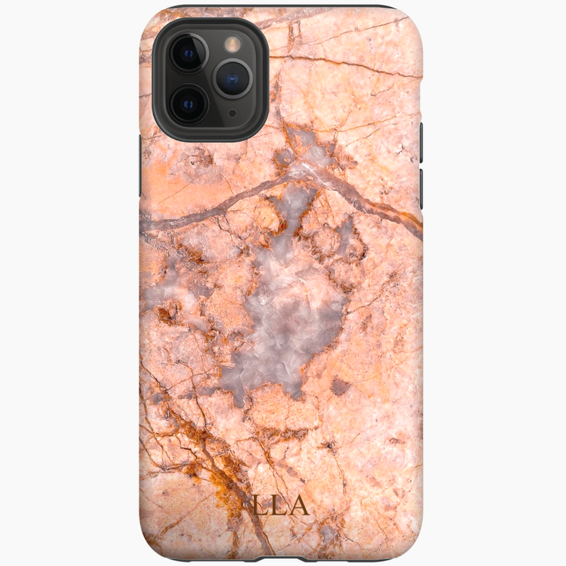 Orange Marble TPU iPhone Case