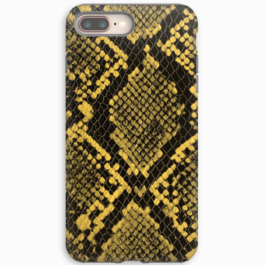 Yellow Python Embossed iPhone Case