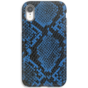 Blue Python Embossed iPhone Case