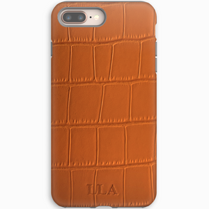 Orange Croc iPhone Case