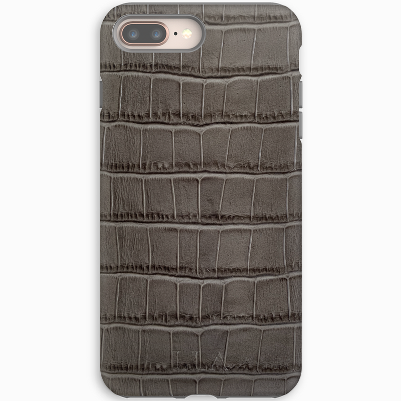Autumn Grey Croc iPhone Cover