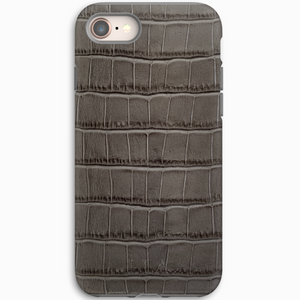 Dark Grey Croc iPhone Case