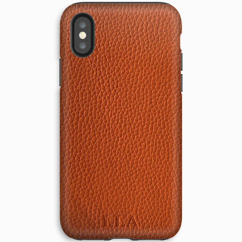 Orange Top Grain iPhone Case