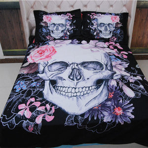 3D Skull Bedding sets