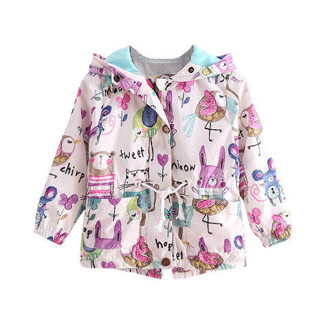 Cute Cartoon Girl Coat