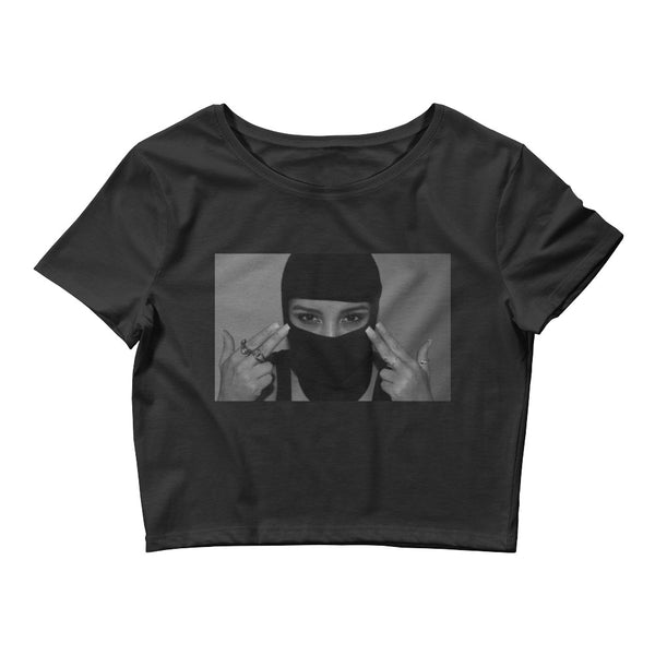 [ Stay Focused ] Limited Edition Women's Crop Tee - Black - FTATEHIG