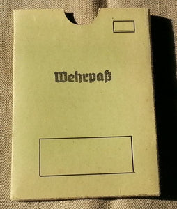 Wehrpaß Cover