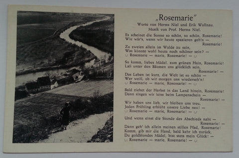"""Rosemarie"" Song Postcard"