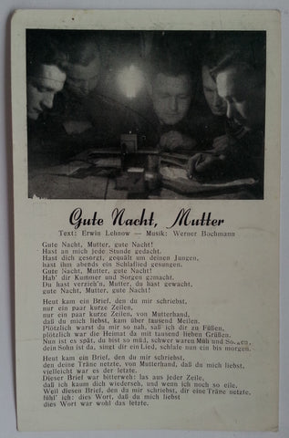 """Gute Nacht, Mutter"" Song Postcard"