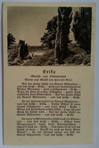 """Erika"" Song Postcard"