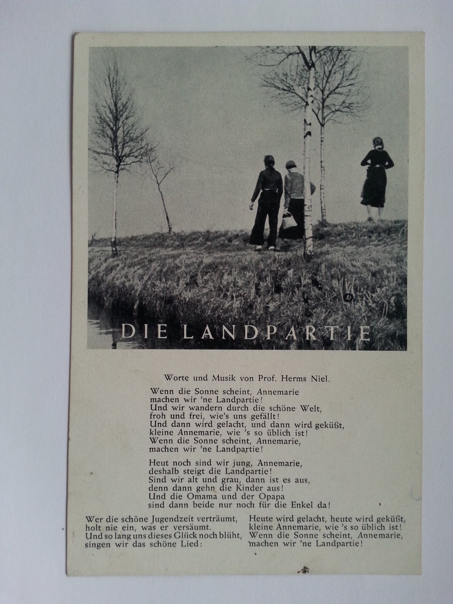 """Die Landpartie"" Song Postcard"