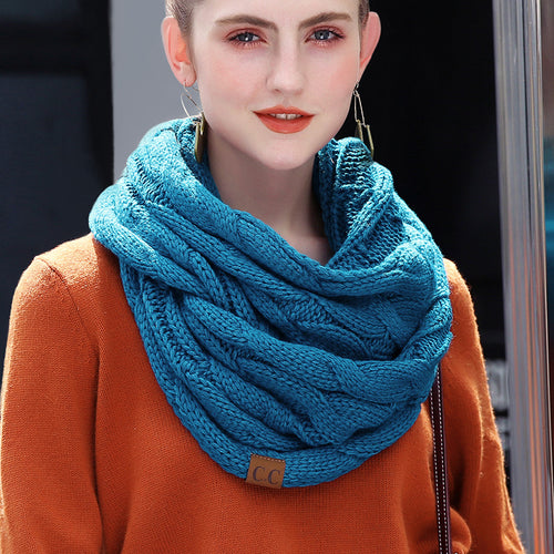 Cable Knit Infinity Scarf - Sequel Beauty
