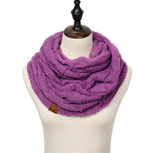 Cable Knit Infinity Scarf