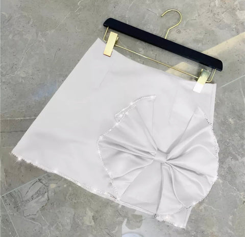 PRE ORDER - Doll Satin Skirt White.