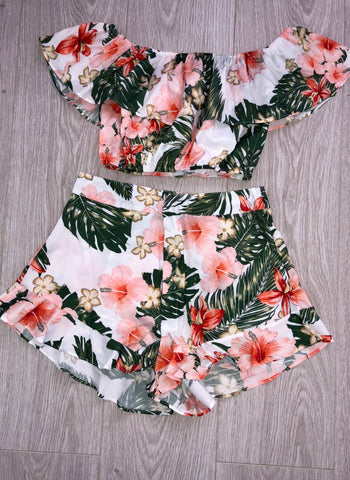 Ruffle Short Two Piece