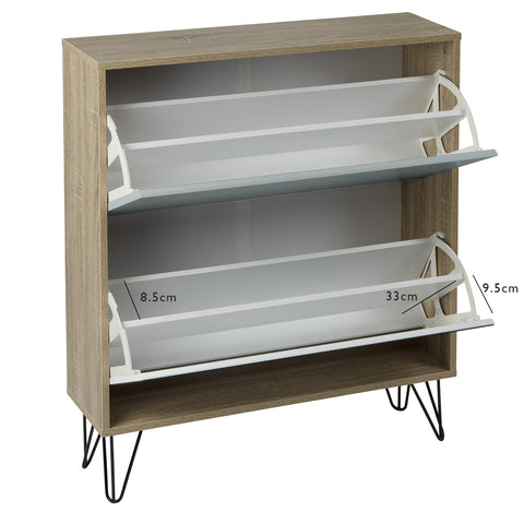 Anderson Shoe cabinet - white & Grey - Laura James